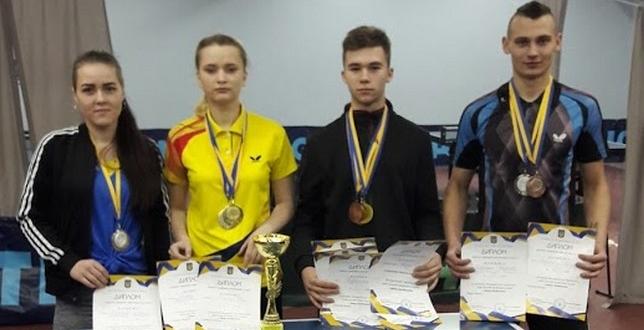 Вітаємо переможців (І- місце) Всеукраїнських змагань з настільного тенісу серед команд юнаків та дівчат учнів закладів професійної (професійно-технічної) освіти